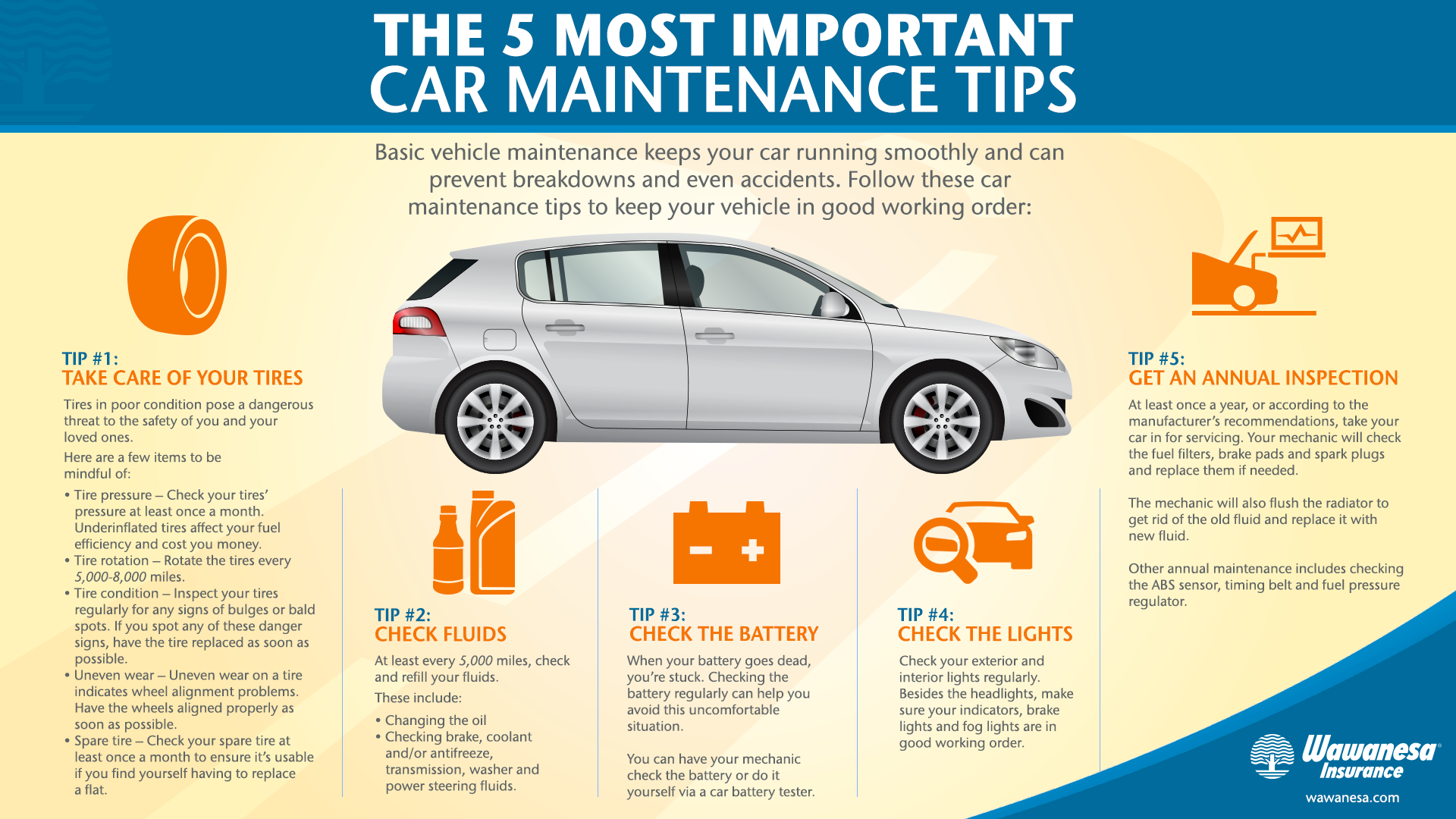Car maintenance tips for your tires, lights, and more